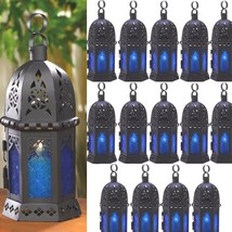 15 Blue Moroccan Lantern Candle Holder Small Wedding Centerpieces - $94.05