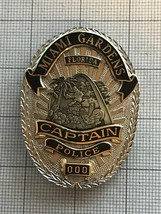 Miami Gardens Florida Sample Police Badge Captain Police #000 - $185.00