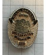 Miami Gardens Florida Sample Police Badge Captain Police #000 - $185.00
