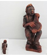Banjo Playing Red Clay Musician Figurine - $18.69