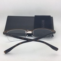 New HUGO BOSS Eyeglasses 0878 QUS 55-19 140 Black & Silver Semi-Rimless Frames