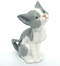 "Lladro Feed Me Cat Figurine 5113 5.5"" Tall Gray and White by Salvadore D... - $75.23"