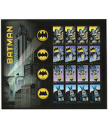 2014 49c Super Hero Batman, Gotham City, Sheet of 20 Scott 4932-35 Mint ... - €17,77 EUR