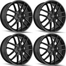 16x7 Touren TR60 5x110/5x115 42 Matte Black Machined Ring Wheels Rims Se... - $445.21