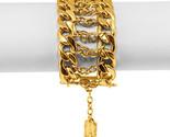 Karine Sultan Gold Statement Curb Chain Bracelet - $35.18