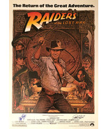 RAIDERS OF THE LOST ARK MOVIE POSTER SIGNED  - $210.00