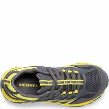 Merrell Boys' Moab FST Low WTRPF Hiking Shoe, Grey/Yellow, 05.5 W US Big Kid image 3