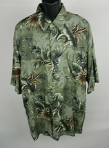 Campia XXL Mens Hawaiian SS Shirt Green Palm Tree Fronds Aloha - $39.59