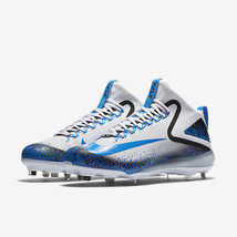 NIKE TROUT FORCE 3 BASEBALL CLEATS-WHITE & PHOTO BLUE SIZE 11-RETAIL $140 - $44.99