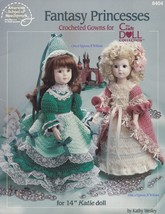 Fantasy Princesses American School Needlework Crochet Doll Clothes Patterns 8404 - $5.95