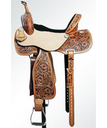 15 In Western Horse Saddle Trail Barrel Racing Leather Great American U-6-15 - $394.95