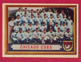 1957 Topps CHICAGO CUBS Team #183 EXMT - $10.00