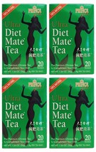 4 Pack Prince of Peace 100% Natural Ultra Diet Mate Tea - 20 Tea Bags