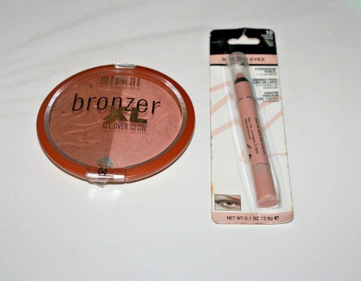 Milani Bronzer XL All Over Glow #04 + Shadow Eyez Eyeshadow #10 Lot Of 2 New - $13.67