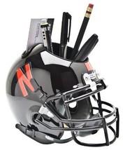 Nebraska Cornhuskers (Black) NCAA Football Schutt Mini Helmet Desk Caddy - $21.95