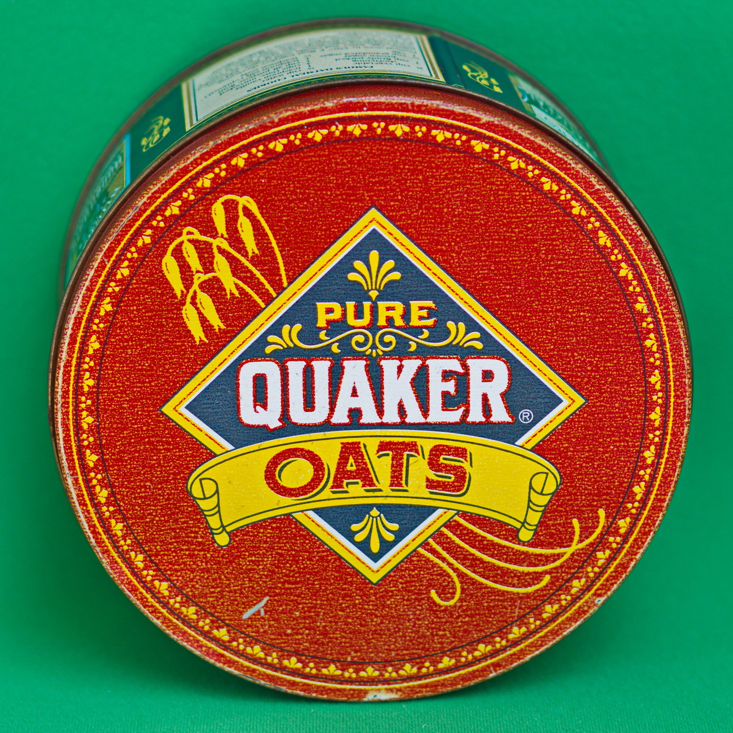 1983 Limited Edition Large Round Quaker Oats Collectible Metal Container