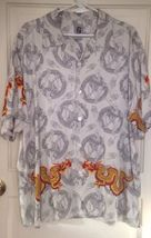 VINTAGE 90's GUESS Jeans Mens Dragon Flames Oversized Relaxed Sz Large - $24.50