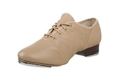 Leo's 5056 Tan Adult 5M (fits size 4.5) Leather Split-Sole Jazz Tap Shoe - $29.99