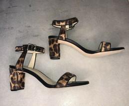 Nine West Pixel Leopard Print Faux Calf Hair Sandals Size 8 new - $24.75