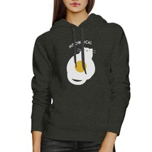 Meowgical Cat And Fried Egg Dark Grey Hoodie - $25.99+