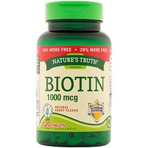 Nature's Truth Biotin 1,000mcg Tablets, 120 Count - $10.88