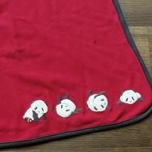 Gymboree SNOW PANDA Bear Vintage Baby Blanket Red Cream 2010 Boys Cotton  - $34.64
