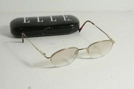 Elle EL2541 Women's Color-BR Half-Rim RX Eyeglass Frames 51-19-140 Original Case - $15.99