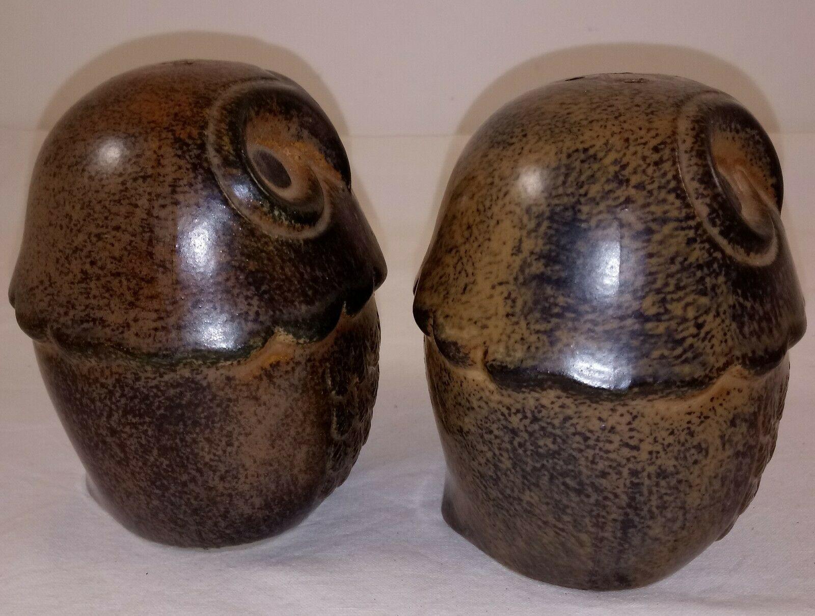 """Japan Brown Owl Salt Pepper Shakers 3 1/2"""""""
