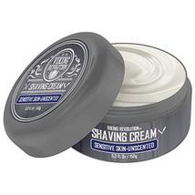 Luxury Shaving Cream for Sensitive Skin- Unscented - Soft, Smooth & Silky Shavin image 2