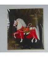 White Horse Japanese Kimono padded Craft Art 24 x 27cm Shikishi Textile ... - $19.99