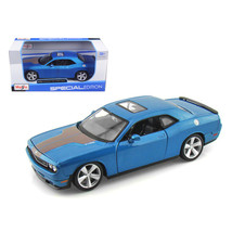 2008 Dodge Challenger SRT8 Blue Metallic 1/24 Diecast Model Car by Maisto 31280b - $24.49