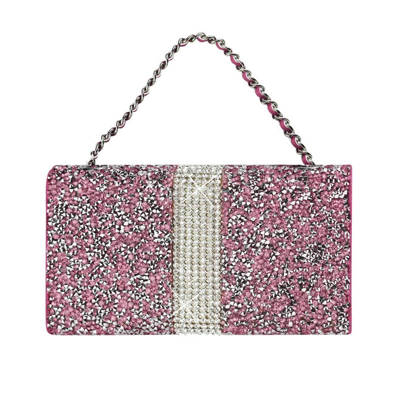 Diamond Bling Credit Card Pink Wallet fits LG Aristo 2