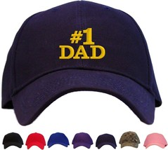 #1 Dad Embroidered Baseball Cap - Available in 7 Colors - Hat - $24.95
