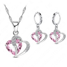Hottest Wholesale New Jewelry 925 Sterling Silver Heart Water Drop Neckl... - $12.88