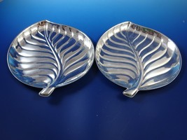 Pair of Leaf Design Silverplate Trays - $58.65