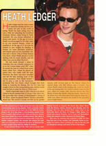 Heath Ledger teen magazine pinup clipping sun glasses