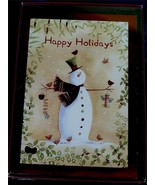 Trimming Traditions 16ct Christmas Cards with Envelopes - Country Snowma... - $11.87