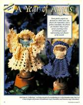 X452 Crochet PATTERN ONLY Clothespin Angels Aster & Calendula Doll - $11.50