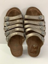 DANSKO Womens JANIE Pewter Metallic Sandal Size 36 Leather Upper - $44.55