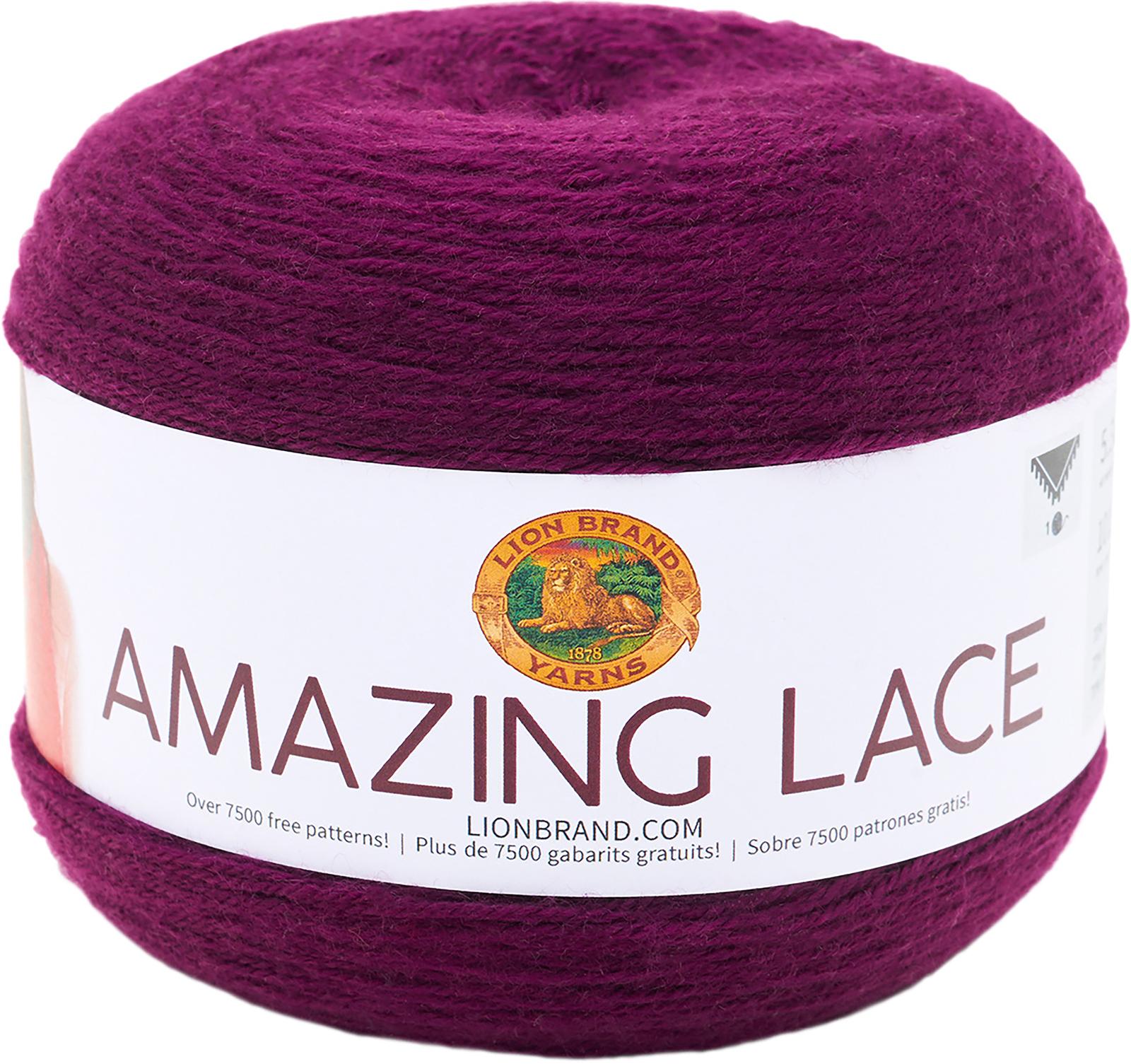 Lion Brand Amazing Lace-Eggplant Trellis - $20.50