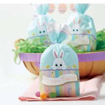 "20 Wilton 4"" x 9.5"" x 2"" Cellophane Happy Easter Bunny Party Treat Favor Bags"
