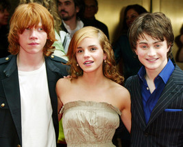 Harry Potter Daniel Radcliffe Emma Watson Print 16x20 Canvas Giclee - $69.99