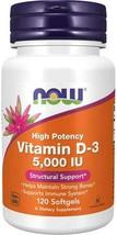 NOW Foods Vitamin D-3 -- 5000 IU - 120 Softgels - $15.50