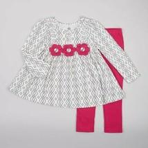 Baby Girls 12 Months Pink Kids Headquarters Floral 2pc. Leggings Set B639  - $12.99