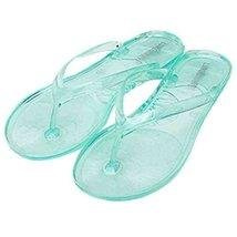 A Pair Transparent Green Sandals Stuffies Beach Slipper Prevent Slippery Slipper