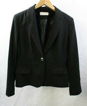 Calvin Klein Women Jacket Black Suit Size 14 - $32.57