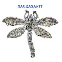 Nagrasanti Dragonfly/Clear Crystal Brooch - $25.00