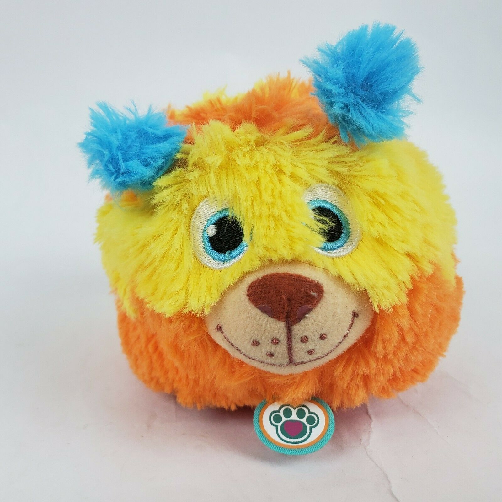"Disney Doc McStuffins Squibbles 5"" Plush Dog Orange Yellow Stuffed Animal"