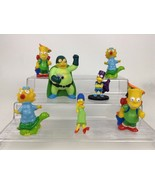 The Simpsons Lot of 7 Figures Bart Marge Maggie Homer Plastic PVC Topper... - $15.10