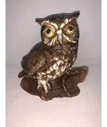 "Vintage Ceramic Owl On Branch Figurine HOMCO #1114   5"" - $10.00"